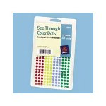 "Avery See Through Removable Color Dots, 1/4"" Dia., Assorted Colors, 860/Pack"