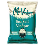 Miss Vickie's Kettle Cooked Sea Salt & Vinegar Potato Chips, 1.375 oz Bag, 64/Carton