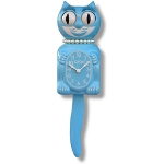 Sky Blue Lady Kit Kat Clock