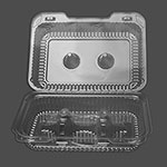 Detroit Forming Inc Six Cell Clear Hinge Muffin / Cupcake Container