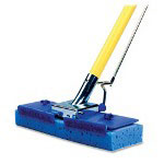 L.C. Industries Butterfly Mop, w/ Scrubber Strip, Blue