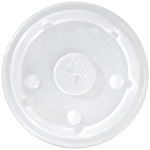 International Paper Flat Translucent Bubble Cold Cup Lid, 12 oz. - 24 oz.