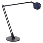 "Ledu Concentrolite Halogen Swing Arm Desk Lamp, 34"" Reach, Black"