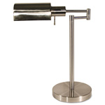 "Ledu Adjustable Full Spectrum Brushed Steel Table Lamp, 15-1/2"" High"