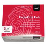 Lee Inkless Fingerprint Pad, 2-1/4w x 1-3/4d, Black