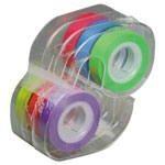 "Lee Removable Highlighter Tape, 1/2"" X 720"", Assorted, 6/PK"