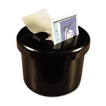 "Lee Ultimate Stamp Dispenser, One 100 Count Roll, Black, Plastic, 2"""" Dia. X 1 11/16"""""