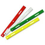 "Charles Leonard Ruler, Plastic, 12"", Double Beveled Edge, Clear"