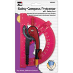 Charles Leonard Compass/Swing Arm Protractor Set, 12/DS, Assorted