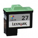Lexmark 27 (10N0227) Color Ink Cartridge, Moderate Yield
