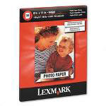 Lexmark Premium Inkjet Photo Paper, Letter Size (8 1/2x11), 50 sheets/pack