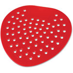 "Impact Urinal Screen, Deodorized, Cherry, 8"" Diameter, 12/DZ, Red"