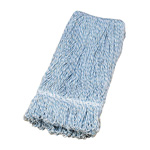 "Layflat Mop Head, 4 Ply Rayon, 1"" Tailband, Looped, Blue/White"