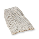 Layflat Mop Refill, #24 Cotton, 4 Ply, Good Absorption, White