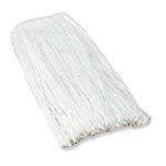 Layflat Mop Refill, #24 Rayon, 4 Ply, Cut End with Headband, White