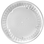 International Paper Flat White Hot Food Container Lids, 16 oz. - 32 oz.