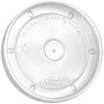 International Paper Flat Clear Hot Food Container Lid, 6 oz. - 16 oz.
