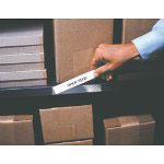 "Box Partners 1"" x 3"" OPEN-EDGE® Plastic Label Holder"