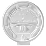 International Paper White Flat Tear-Back Hot Cup Lid, 8 oz.
