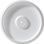 International Paper Flat White Vented Hot Cup Lid, 4 oz.