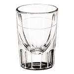 Libbey Whiskey Service Drinking Glasses, Fluted Lined Shot Glass, 1 oz., 3 Inch Height