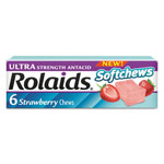 Rolaids Ultra Strength Antacid Softchews, Strawberry, 6/Pack, 12 Packs/Box