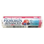Rolaids Advanced Antacid Plus Anti-Gas Tablets, Assorted Berries, 10/Roll, 12 Roll/Box
