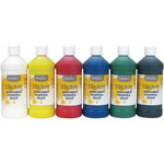 Little Masters Washable Paint, 6 Assorted Colors, 16 oz