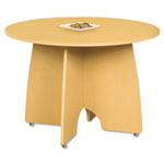 Linea Italia Massima Line Round Table, 43-3/8w x 43-3/8d x 29-1/2h, Honey