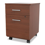 Linea Italia Seven Series Mobile Pedestal File, Box/File Drawer, Cherry