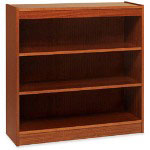 "Lorell 2 Shelf Veneer Panel Bookcase, 36""Wx12""Dx36""H, Oak"