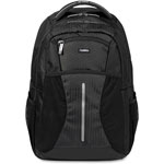 "Lorell Laptop Backpack, 15.6"", Adjustable, Black"