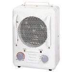 "Lorell Utility Heater, 1500 Watts, 2 Settings, 8"" x 9-1/4"" x 12-7/9"", Putty"