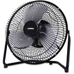 "Lorell Metal HV Fan, 9"", 2 Speed, Adjustable, Black"
