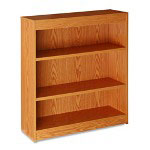 "Lorell 3 Shelf Bookcase, 36""x12""x42"", Oak"