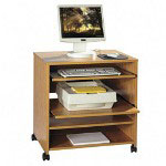 "Lorell Computer Workstation, 27 1/2""x20""x30"", Medium Oak"