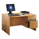"Lorell Computer Desk, 47 1/2""x29 3/4""x27"", Medium Oak"