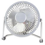 "Lorell 4"" High Velocity Fan, 1 Speed, 3-3/4""x6-2/4""x7"", 6' Cord, Silver"