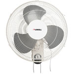 "Lorell 16"" Wall Mount Fan, 6' Cord, 9-1/4""x18-1/9""x18-1/2"", White"