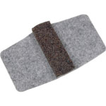 Lorell Wraparound Floor Savers, Gray