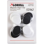 Lorell Magnetic Paper Clip, 6/PK, Ast