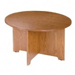 "Lorell Round Table, 48""Diameter, 30""H, Medium Oak"