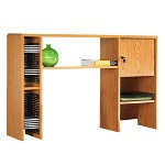 "Lorell Workstation Hutch, 50""x12""x32 1/2"", Medium Oak"