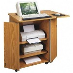 "Lorell Shelf For Stand Up Computer Workstation, 12""x32"", Medium Oak"