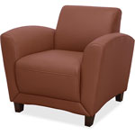"Lorell Club Chair, 34-1/2"" x 36"" x 31-1/4"", Tan"