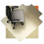 "Lorell Low Pile Chairmat, Wide 45""x53"", Lip 25""x12"", Clear"