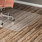 "Lorell Chairmat, Hard Floor, Wide 46""x60"", Clear"