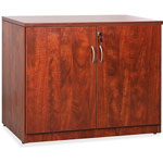 "Lorell 2-Door Storage Cabinet, 22-1/2"" x 36"" x 30"", Cherry"