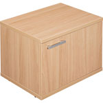 "Lorell Concordia Low Storage Cabinet w/Drawer, 17 3/4"" x 23 5/8"" x 16 1/2"", Latte"