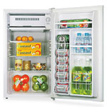 Lorell Compact Refrigerator, 3.3 Cubic Ft, White